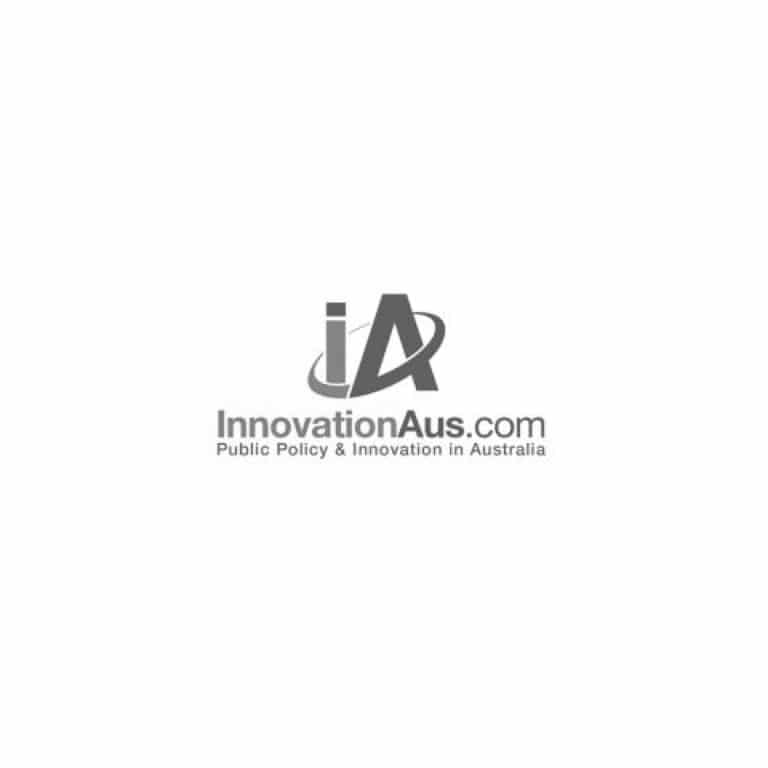 Innovation Australia logo in greyscale