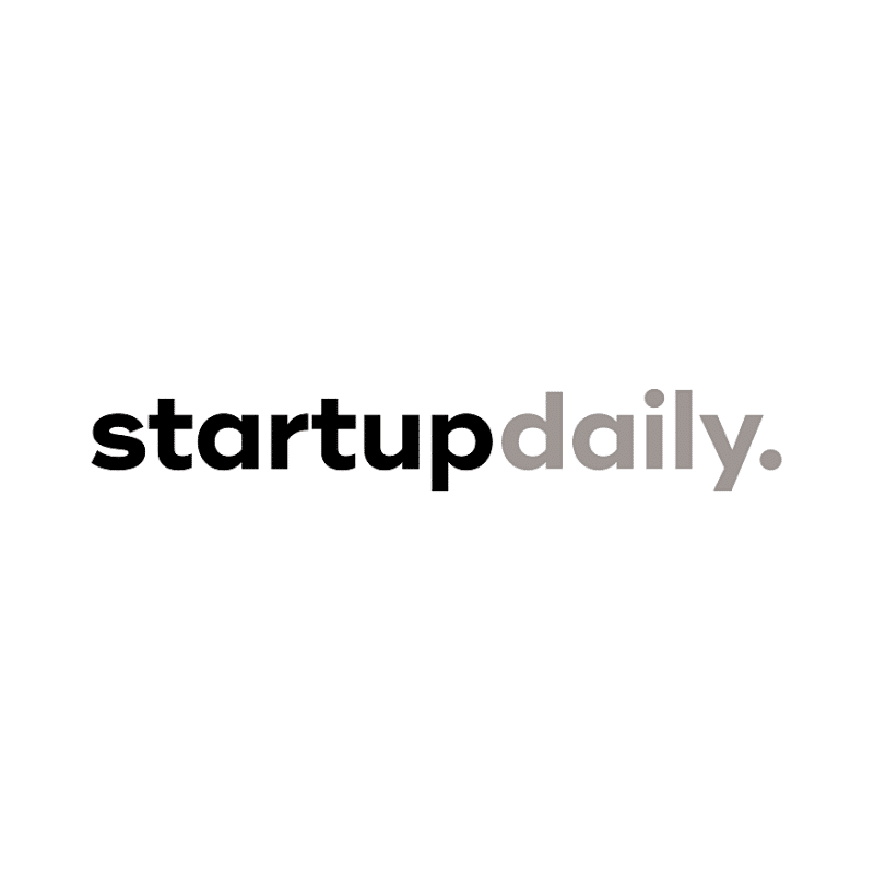 Startup Daily logo in greyscale