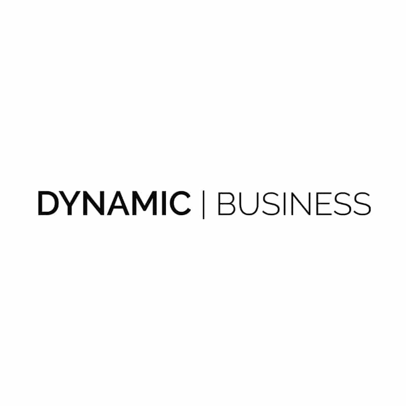 Dynamic Business logo in greyscale