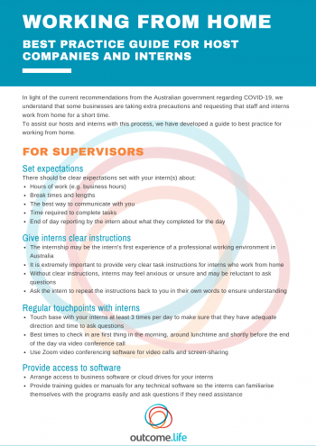 Working From Home Best Practice Guide Page 1